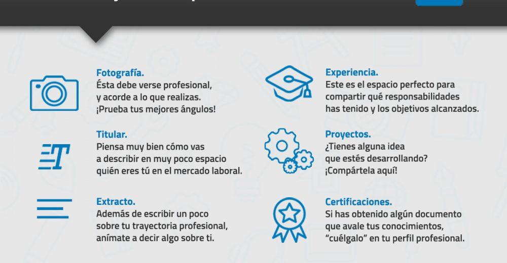 infografia tips para perfil profesional de LinkedIn
